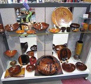 ケヤキ玉杢の尺皿・変形の器・黒柿の器など